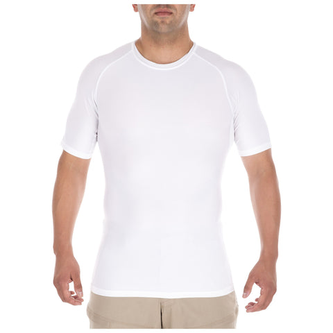 5.11 TACTICAL TIGHT CREW S/S WHITE 2XL