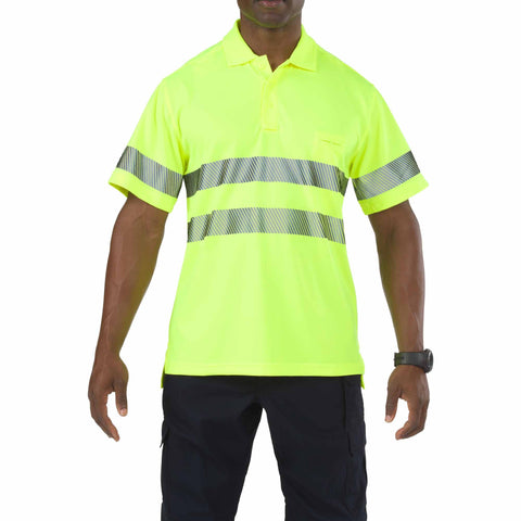 5.11 TACTICAL HI-VIS S/S POLO HIGH VIS YELLOW 3XL