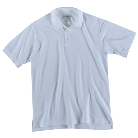 5.11 TACTICAL S/S UTILITY POLO TALL WHITE 4XL