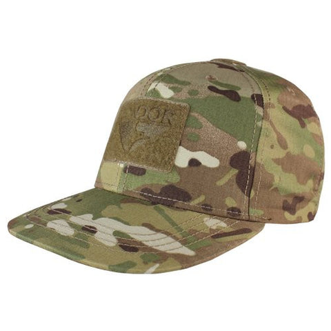 CONDOR FLAT BILL SNAP BACK HAT MULTICAM BLACK OSFA
