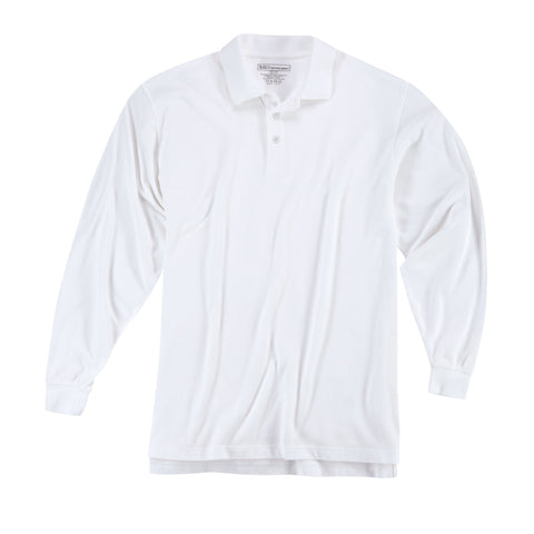 5.11 TACTICAL PROFESSIONAL L/S POLO WHITE 3XL