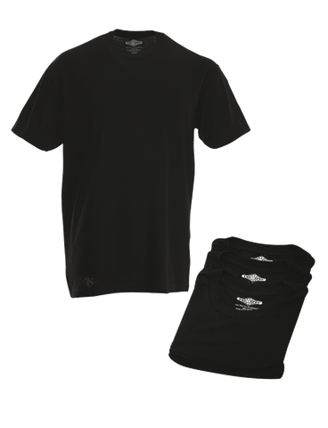 TRU SPEC 3 PACK COMFORT SHORT SLEEVE TEE SHIRTS BLACK 3XL REGULAR