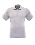 TRU-SPEC MEN'S CLASSIC COTTON SHORT SLEEVE POLO SHIRT HEATHER GREY 5XL REGULAR