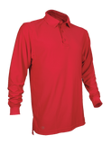 TRU-SPEC MEN'S PERFORMANCE LONG SLEEVE POLO SHIRT RANGE RED 5XL REGULAR