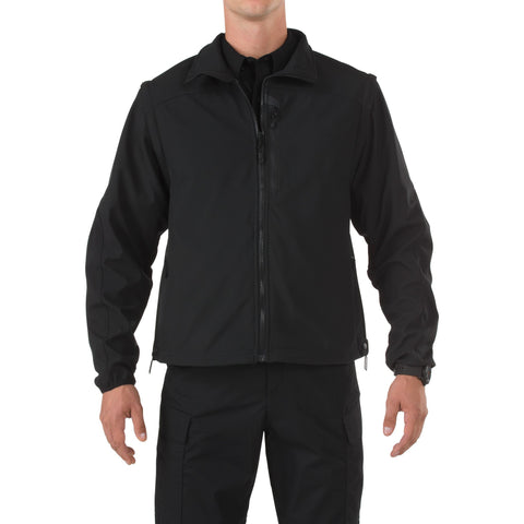 5.11 TACTICAL 5.11 VALIANT SFTSHELL JACKET BLACK 4XL