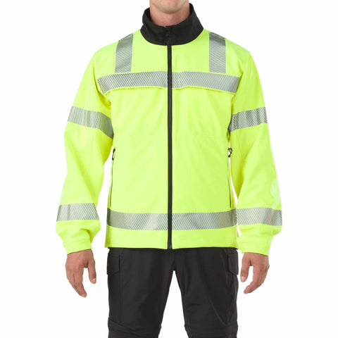 5.11 TACTICAL REVRSE HI VIS SOFT SHELL JACKET HIGH VIS YELLOW 3XL