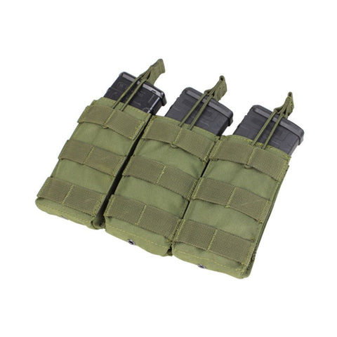 534421c8ea2a CONDOR TRIPLE M4 M16 OPEN TOP MAG POUCH OLIVE DRAB