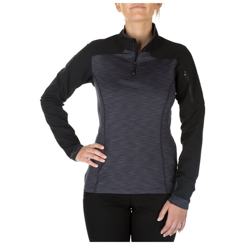 5.11 TACTICAL WOMENS RAPID HALF ZIP CHARCOAL XL