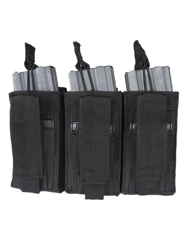 5IVE STAR GEAR OPEN TOP TRIPLE M4/M16 MAG MOLLE POUCH BLACK