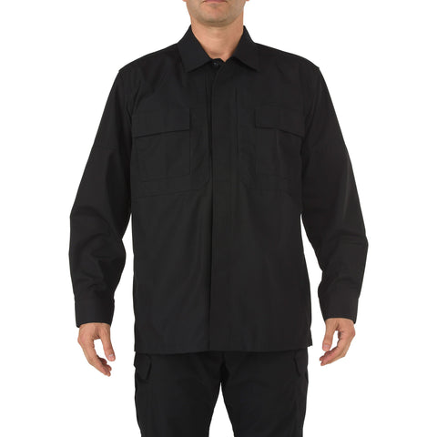 5.11 TACTICAL RIPSTOP TDU L/S SHIRT BLACK 4XL REGULAR