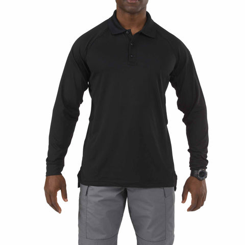 5.11 TACTICAL PERFORMANCE L/S POLO TALL BLACK 5XL