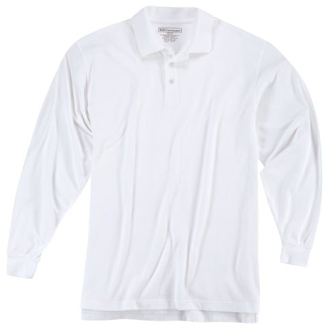 5.11 TACTICAL UTILITY L/S POLO WHITE 3XL