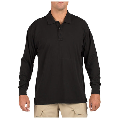 5.11 TACTICAL L/S POLO BLACK 3XL