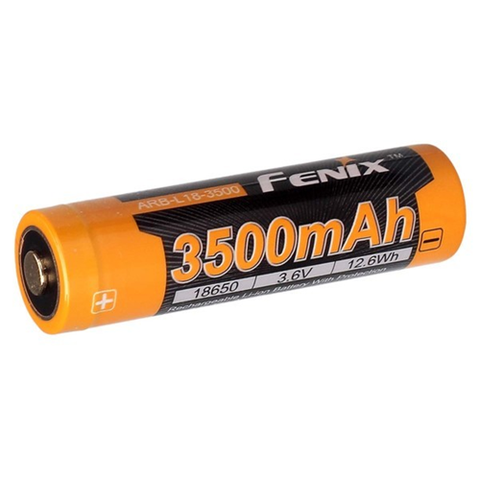 FENIX ARB-L18-3500 LI-ION 18650 (3.6 V) 3500 MAH RECHARGEABLE BATTERY WITH PROTECTION CIRCUIT-T-Box Tactical