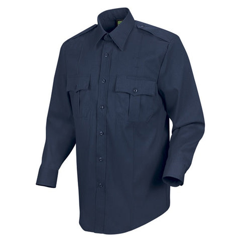 HORACE SMALL NEW DIMENSION POPLIN LS SHIRT DARK NAVY