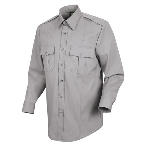 HORACE SMALL NEW DIMENSION POPLIN LS SHIRT GREY
