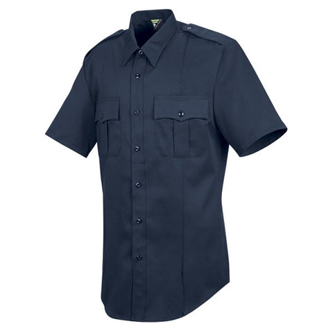HORACE SMALL NEW DIMENSION POPLIN SS SHIRT DARK NAVY