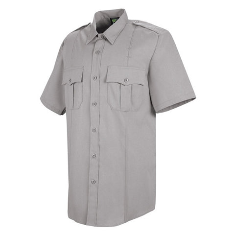 HORACE SMALL NEW DIMENSION POPLIN SS SHIRT GREY