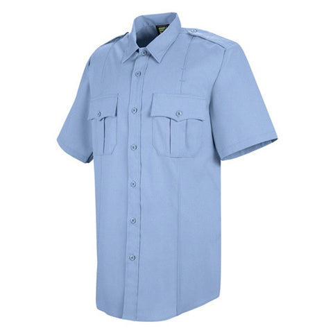 HORACE SMALL NEW DIMENSION POPLIN SS SHIRT LIGHT BLUE