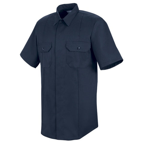 HORACE SMALL NEW DIMENSION CONCEALED BUTTON FRONT SS SHIRT