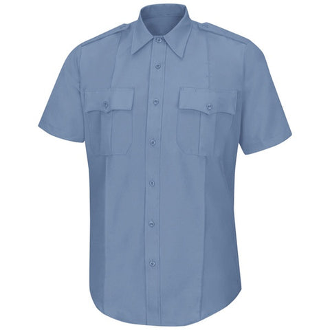HORACE SMALL SENTRY SS SHIRT WITH ZIPPER MEDIUM BLUE