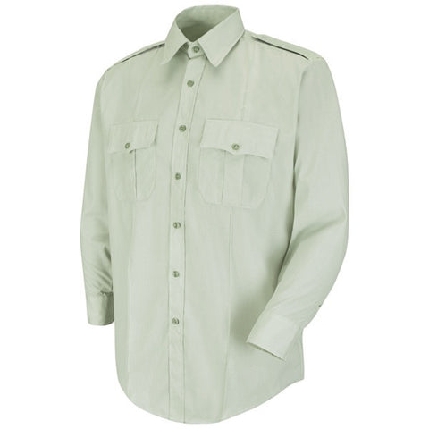 HORACE SMALL NEW DIMENSION POPLIN SS SHIRT LIGHT GREEN