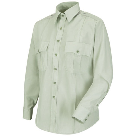 HORACE SMALL NEW DIMENSION POPLIN LS SHIRT LIGHT GREEN