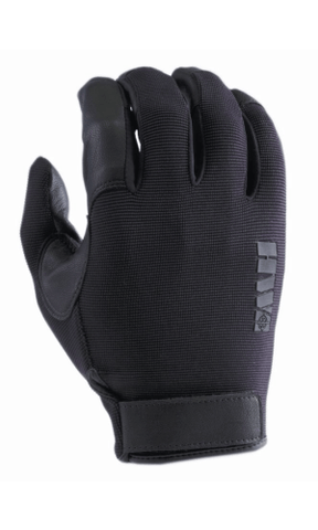 HWI GEAR  SPANDEX KNIT & GOATSKIN LEATHER  BLACK XS