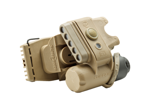 SUREFIRE HELMET LIGHT - RD/WH/IR LEDS - TAN
