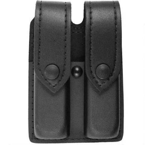 SAFARILAND MODEL 77 DOUBLE MAGAZINE POUCH, LEATHER LOOK, STX TACTICAL