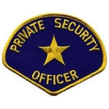 HERO'S PRIDE PRIVATE SECURITY OFFICER  PATCH4 3/4 X 3 3/4 MED GOLD/NAVY  SEW ON