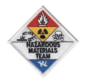 "HERO'S PRIDE HAZARDOUS MATERIALS TEAM  PATCH 3 X 3"" (AT POINTS) FULL COLOR SEW ON"