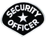 HERO'S PRIDE SECURITY OFFICER  PATCH WHITE/BLACK SEW ON