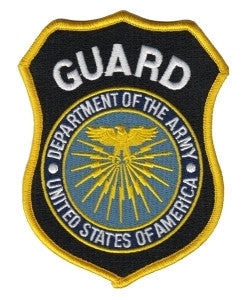 HERO'S PRIDE GUARD DEPT. OF ARMY  PATCH3 3/4 X 4 5/8 FULL COLOR SEW ON