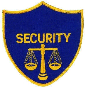 HERO'S PRIDE SECURITY W/SCALES OF JUSTICE PATCH FULL COLOR SEW ON