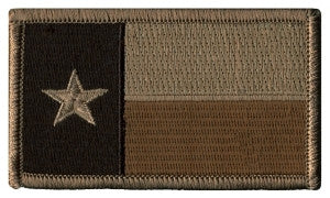 TX STATE FLAG SEW ON - 3-3/8 X 2 DESERT
