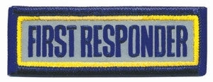 "HERO'S PRIDE FIRST RESPONDER  PATCH 3 X 1"" REFLECTIVE  SEW ON"