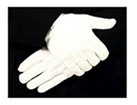 HERO'S PRIDE SNAP CLOSURE RAISED POINTING NYLON STRETCH MENS PARADE GLOVES WHITE OSFA