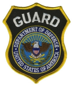HERO'S PRIDE GUARD DEPT. OF DEFENSE  PATCH3 5/8 X 4 3/8 FULL COLOR SEW ON