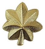 "HERO'S PRIDE SMALL MAJOR LEAF PAIR 3/4""   GOLD   2 CLUTCH"
