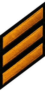 HERO'S PRIDE CONTINUOUS HASHMARKS  PATCH DARK GOLD ON BLACK FELT SEW ON