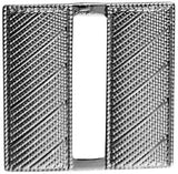 "HERO'S PRIDE CORRUGATED LT. BAR PAIR MINI  3/4""   SILVER   2 CLUTCH"