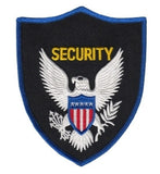 HERO'S PRIDE SECURITY  CHEST PATCH 4 X 5 ROYAL BORDER, BLACK TWILL  SEW ON