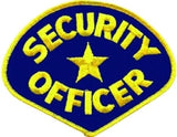 HERO'S PRIDE SECURITY OFFICER  PATCH MED GOLD/NAVY BLUE SEW ON