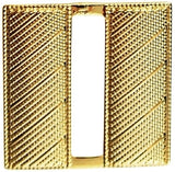 "HERO'S PRIDE CORRUGATED LT. BAR PAIR MINI  3/4""   GOLD   2 CLUTCH"
