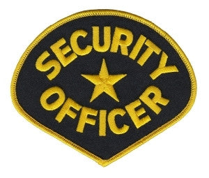 HERO'S PRIDE SECURITY OFFICER  PATCH MED GOLD/BLACK SEW ON