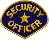 HERO'S PRIDE SECURITY OFFICER  PATCH MED GOLD/ROYAL BLUE SEW ON