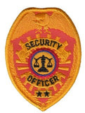 HERO'S PRIDE SECURITY OFFICER  PATCH2 1/2 X 3 1/2 REFLECTIVE GOLD  SEW ON