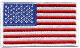 U.S. FLAG W/VELCRO - 3-1/4 X 1-13/16 FULL COLOR WHITE