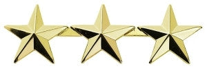 "HERO'S PRIDE THREE 1/2"" STARS PAIR  GOLD   2 CLUTCH"
